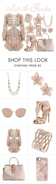 """""""Into the Garden"""" by abigailetom ❤ liked on Polyvore featuring Ruby Rd., NAKAMOL, Alexandre Birman, Zimmermann, Accessorize, H&M and Casetify"""
