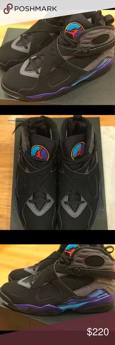 "JORDAN RETRO  ""Aqua 8s"" size 10.5 Size 10.5, Never been worn, AQUA 8s, 2015 release. Nike Shoes Sneakers"