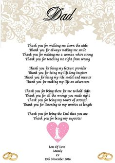 A Message From The Bride And Groom To Their Parents Pinterest