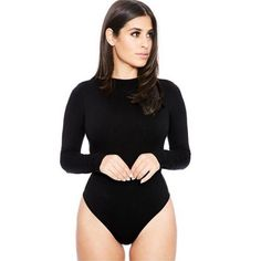 d049ec8fb1c7 2018 long sleeve o neck casual bodysuit women's body top white black nude  red pink Party