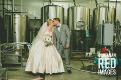 Laura and Joe's Playful and modern brewery wedding!
