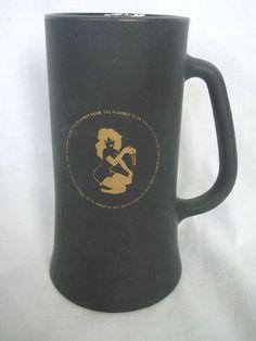 Beer Mug Playboy Club Vintage Coffee Tankard Gold Bunny Key Black Matte Cup  #PlayboyClub  #NationalBeerDay