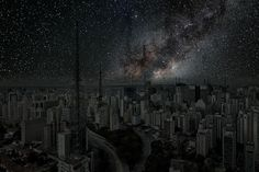 athankyou:  What Major World Cities Look Like at Night, Minus the Light Pollution  Photographer Thierry Cohen tries to reconnect city dwellers with nature through his mind-blowing composite images—now at New York City's Danziger Gallery