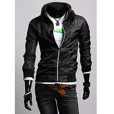 Men's Stand Zipper Fashion Jacket Coat