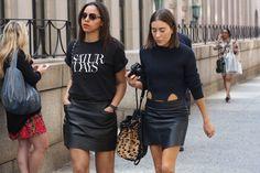 leather skirt loving