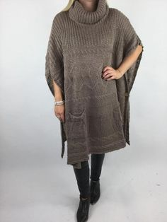 Lagenlook Lilly Chunky Knit in Warm Mocha. code 17100