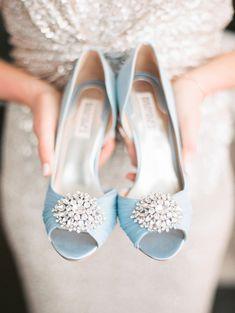 Zapatos de Novia en color azul