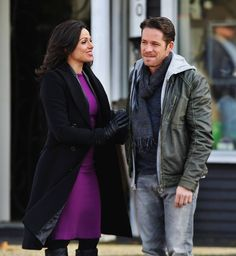 """Lana Parilla and Sean Maguire - Behind the scenes - 4 * 22 """"Operation Mongoose Part 2"""" !st April 2015"""