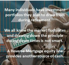 An alternative source of cash when you don't wish to draw out your principle from your investment portfolio.