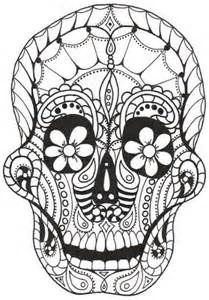 sugar skull coloring pages for adults - - Yahoo Image Search Results