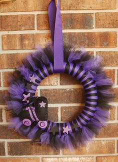 Roller Derby Tu-Tu Tulle Wreath- Roller skates- Can be Custom made with Leagues colors. $44.00, via Etsy.