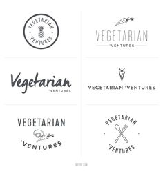 Rejected logo concepts for a food blogger || Noirve