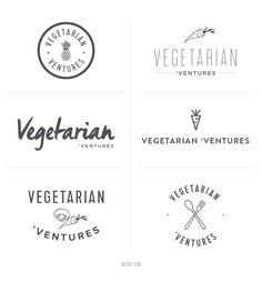 Rejected logo concepts for a food blogger || Noirve