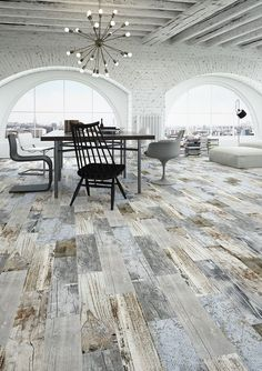 Reclaimed Rustic Blue Wood Effect Porcelain Wall/Floor Tile 60cmx15cmx11mm