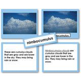 Teach the different types of clouds, their names and how they predict the weather. The four part card set has...