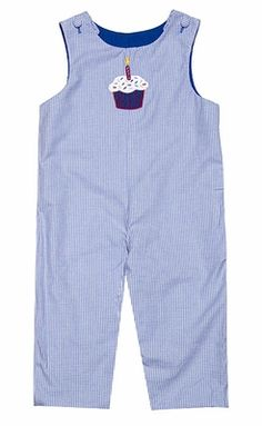 Glorimont Baby Boys Reversible Blue Longall - Birthday Cupcake / Circus Bear Juggler