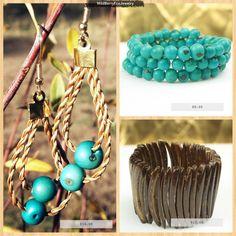 Capim Dourado, Golden Grass, Coconut and Acai Women's jewelry. Women's Eco Fashion.