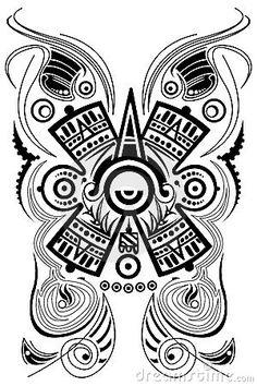 Symbole maya stylisé - tatouage - vecteur