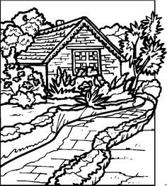 Landscape Coloring Pages For Adults | Water landscapes ...