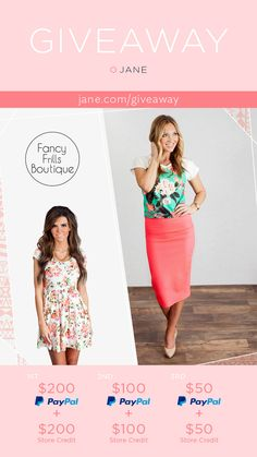 {Giveaway} One of our customer faves Fancy Frills is back this week with a killer giveaway. Win some cash, win some cute clothes, sounds good to me... what about you?? Enter on the giveaway page by Sunday! **Click through to enter**