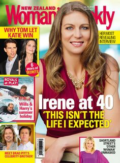 NZWW 23 July 2012- We interview Silver Fern Irene van Dyk about life at 40. Life hasn't turned out the way our top netballer thought, but she couldn't be happier. Also in this issue, Shortland Street's latest bad girl Roz Turnbull reveals her happy home life; we talk to former Silver Fern and TV presenter Jenny-May Coffin about taking on her hardest task yet – learning Maori; and Judy Bailey lets the magic of the Great Barrier Reef lure her in, as she gets back to nature on Lady Elliot…