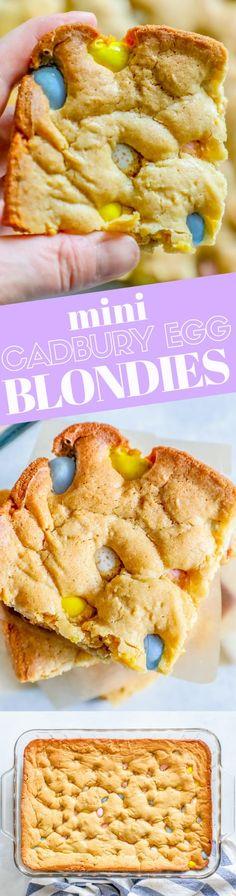 Easy Cadbury Mini Egg Blondies Recipe ⋆ Sweet C's Designs
