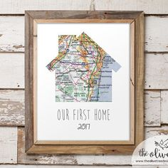 Our First Home Map Print