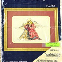 Angel With Baby Counted Cross Stitch Kit by DartingDogChristmas