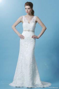 eden bridals wedding dress 2013 black label bl041 sleeveless v neck lace sheath gown