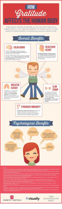 How Gratitude Affects the Human Body #infographic More