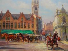 The Burg Square, Bruges,  the Baranovs
