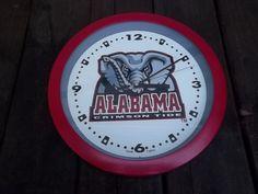 "Alabama Crimson Tide 12"" Round Wall Clock #AlabamaCrimsonTide"