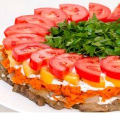 Вкусный салат, которому не найти замены Sandwich Cake, Sandwiches, Chopped Salad, Russian Recipes, Snacks, Appetisers, Confectionery, Sushi, Good Food