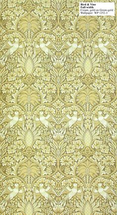 Historic Style - Bird and Vine by William Morris