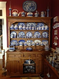 Blue Willow China, Blue And White China, Blue China, Blue Dishes, White Dishes, Blue Dinnerware, Blue Plates, White Decor, Cottage