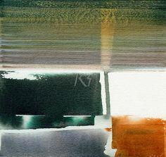 GRISAZUR: Acuarela sobre papel, 16,5x17,5 cm.Mar. 10, 2015