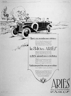 Aries Open Sedan ad from 1925.