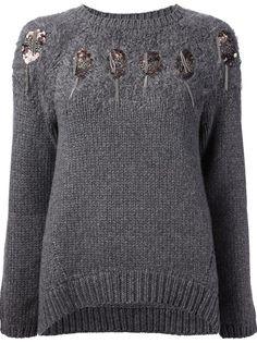 BRUNELLO CUCINELLI - embellished sweater 6