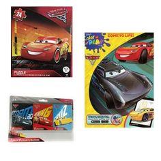 Cars 3 Lightning McQueen Coloring Book Puzzle Storm 2.0 Cruz Crayons Bundle Gift #DisneyPixarCars