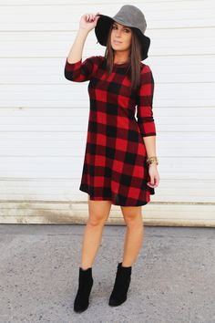I'm obsessed with buffalo plaid! I need this dress!