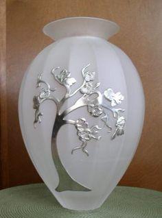 Pewter design Vase