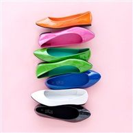 ELLOS Patent Ballet Pumps with Flat Heel, 6 Colours