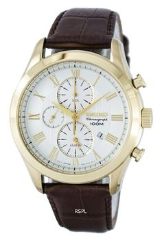Seiko Chronograph Quartz Alarm SNAF72 SNAF72P1 SNAF72P Men's Watch