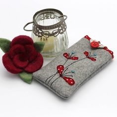 appliqued flowers mobile phone case by honeypips | notonthehighstreet.com