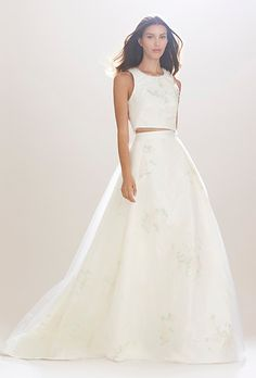 Carolina Herrera Wedding Dress - Fall 2016 - Brides.com // Pinned by Dauphine Magazine, curated by Castlefield (wedding invitation, branding, pattern designs: www.castlefield.co). International Couture Fashion/Luxury Wedding Crossover Magazine - Issue 2 now on newsstands! www.dauphinemagazine.com. Instagram: @ dauphinemagazine / @ castlefieldco. Dauphine and Castlefield only claim credit for own images.
