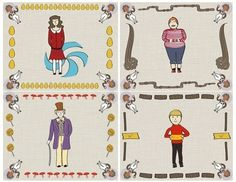 How to make a sticker. Charlie And The Chocolate Factory Stationery And Sticker Set - Step 2