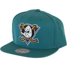Mitchell & Ness Mighty Ducks Of Anaheim Wool Solid Teal Snapback Cap ★★★★★