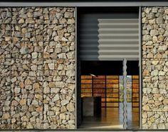 Gabion Wall Finish Bosque Altozano Club House / Parque Humano, photo by Paul Rivera Design Exterior, Facade Design, House Design, Garden Design, Residential Architecture, Contemporary Architecture, Interior Architecture, Detail Architecture, Gabion Wall