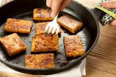 Gingery Garlicky Tempeh recipe from Whole Foods.  LOVE tempeh