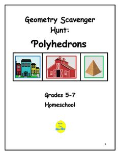 This project requires students to locate 40 different examples of polyhedrons.  Students use catalogs, ads, magazines, newspapers or the internet to locate furniture, food products, patio designs, fencing, etc., that include polyhedrons.  Students also must find surface area and volume of one prism and one pyramid.